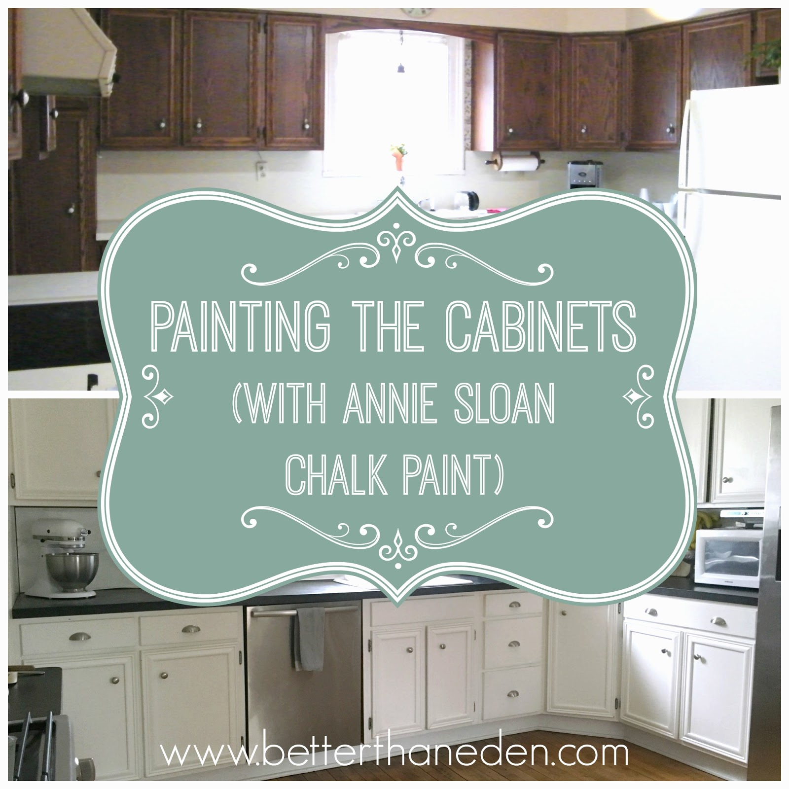 Chalk Paint On Kitchen Cabinets: Painting The Cabinets And My Annie