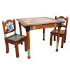 Fantasy Fields - Lil' Sports Fan Thematic Hand Crafted Kids Wooden Table and 2 Chairs Set | Imagination Inspiring Hand Crafted & Hand Painted Details | Non-Toxic, Lead Free Water-based Paint
