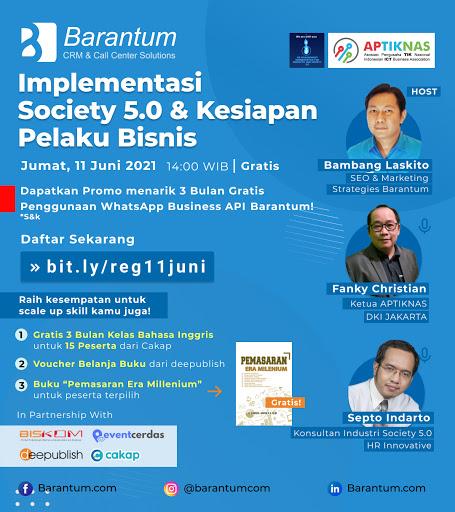 Implementasi Society 5.0 & Kesiapan Pelaku Bisinis - 11 Juni 2021