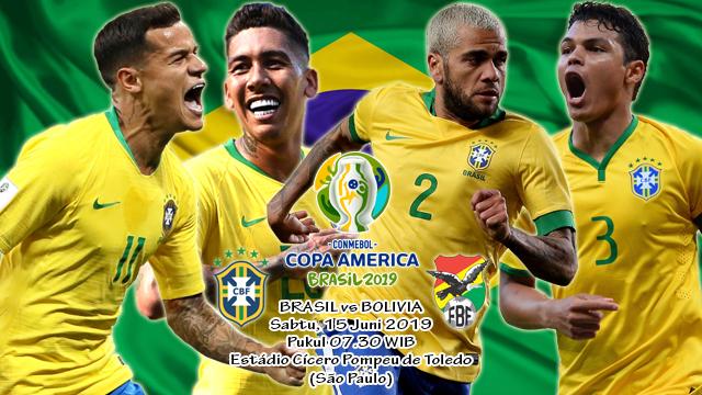 Prediksi Copa America Brasil vs Bolivia (15 Juni 2019)