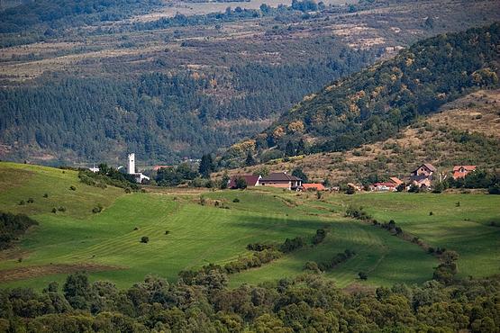 Parajd látképe Alsósófalváról