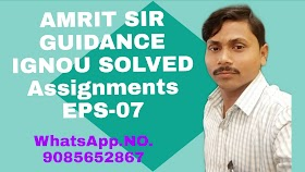 IGNOU SOLVED ASSIGNMENTS SUBJECT CODE:EPS-07 TMA/2019/2020