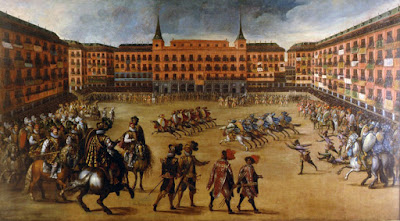 Tela de  Juan de la Corte  - Matéria Plaza Mayor - BLOG LUGARES DE MEMÓRIA