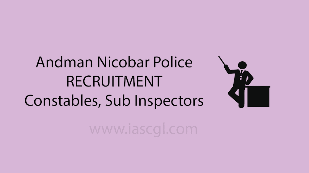 Andman Nicobar Police Recruitment