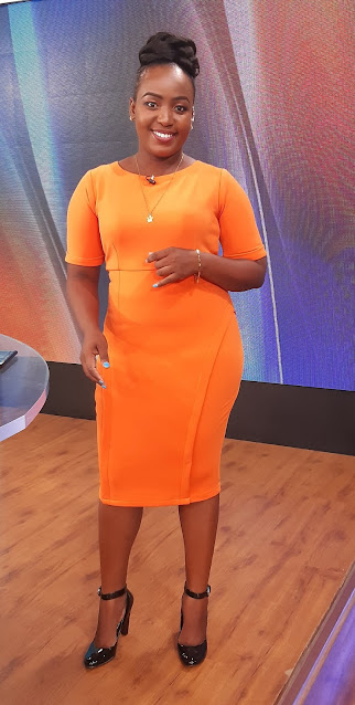 KBC presenter and reporter Kamche Menza photo
