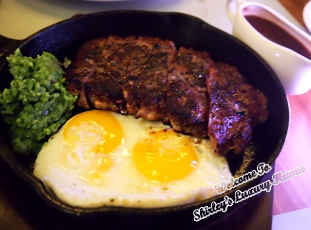 marmalade pantry at the stables, steak and eggs