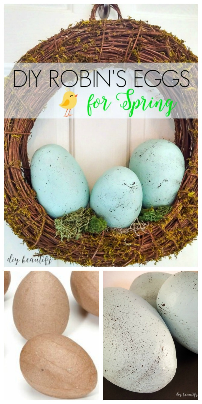 add eggs to a wreath