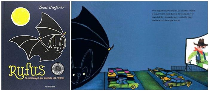 mejores cuentos infantiles 3 a 5 años, libros recomendados rufus murcielago colores tomi ungerer