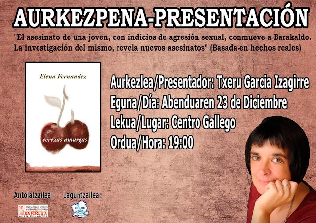 Cartel de la presentación del libro