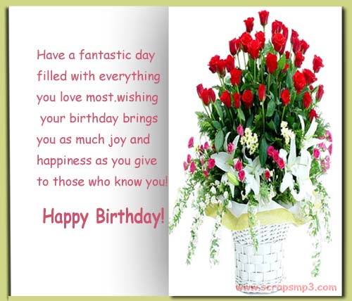 Happy Birthday Greetings for facebook Love Relationship – Facebook Birthday Cards