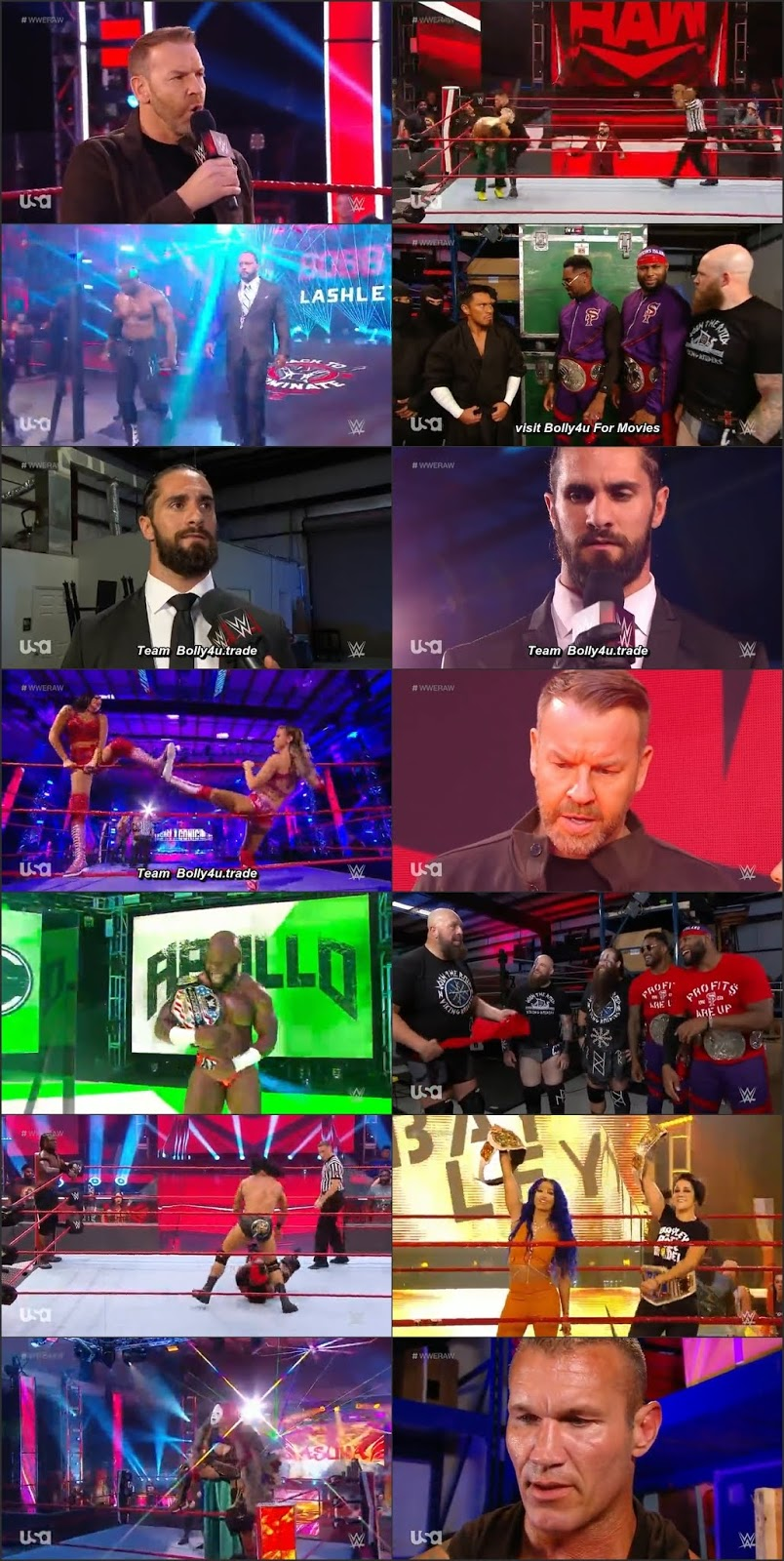WWE Monday Night Raw HDTV 480p 350Mb 15 June 2020 Download