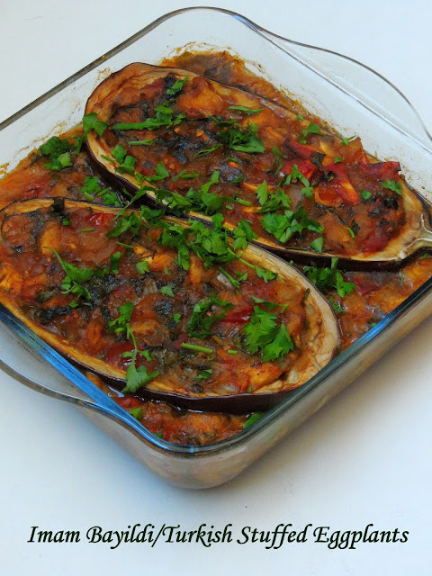 Stuffed Eggplants, Turkish Eggplants, Imam Bayildi