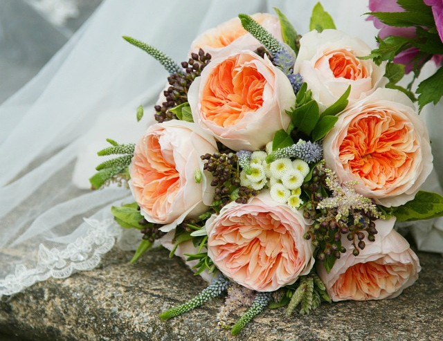 Bouquet con Rosa Juliet