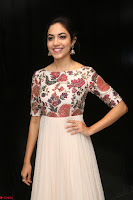 Ritu Varma smiling face Cream Anarkali dress at launch of OPPO New Selfie Camera F3 ~  Exclusive 029.JPG