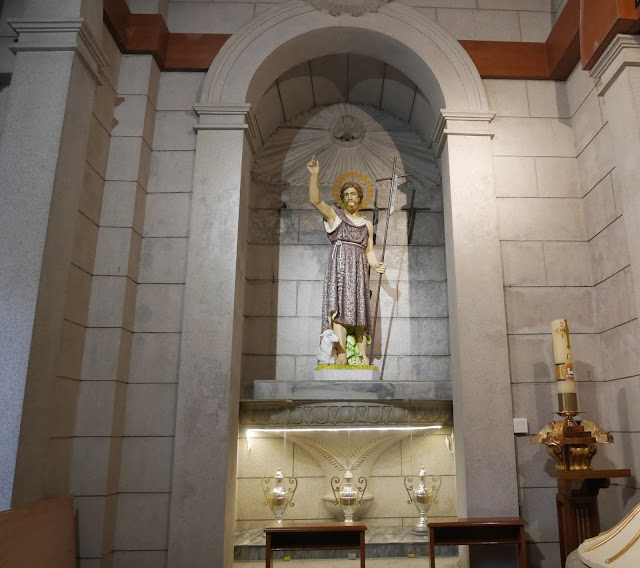 statue of Jesus and lamb inside Macau Cathedral