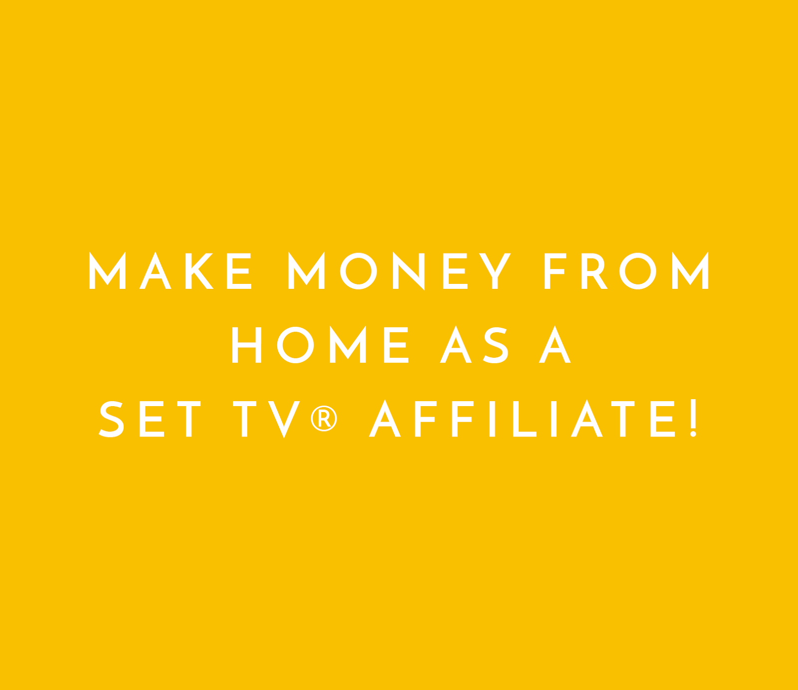 Make Money From Home As a SET TV Affiliate SET TV The Best