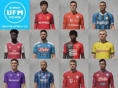 FIFA 20 Faces UFM Facepack v2 by FCB17