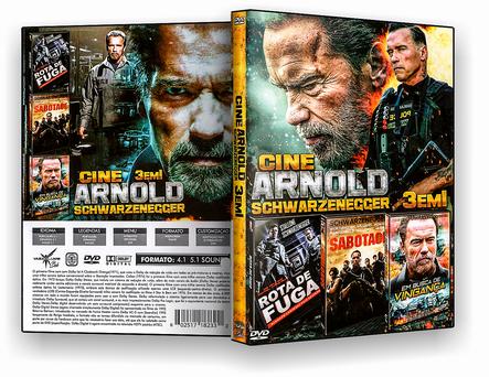 CAPA DVD – Cine Arnold 3 Em 1 – ISO