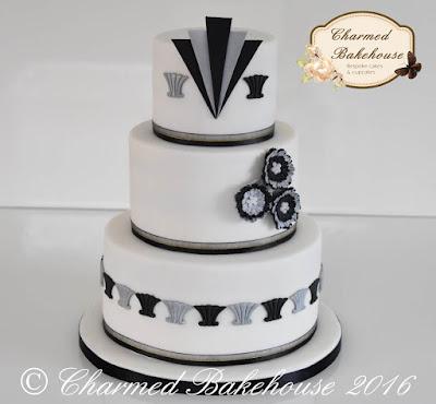 art deco, art deco cake, wedding cake