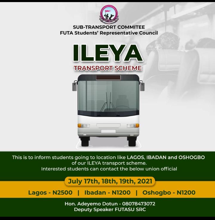 FUTA ILEYA Transport Scheme