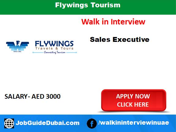 Flywings Tourism career for sales executive job in Dubai