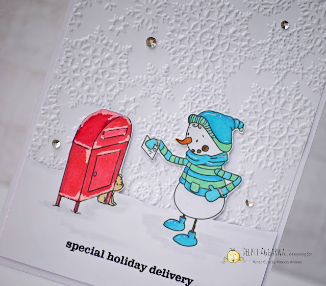 Handmade Snowman Holiday Card
