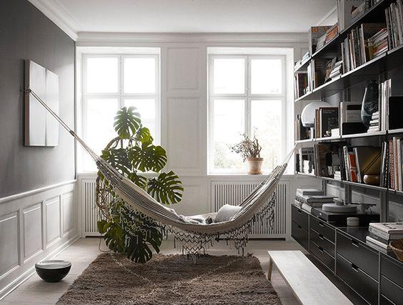 la fabrique d co un hamac dans la maison d co boh me et douceur de vivre. Black Bedroom Furniture Sets. Home Design Ideas