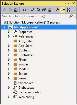MVC 4 Solution Explorer in Visual studio
