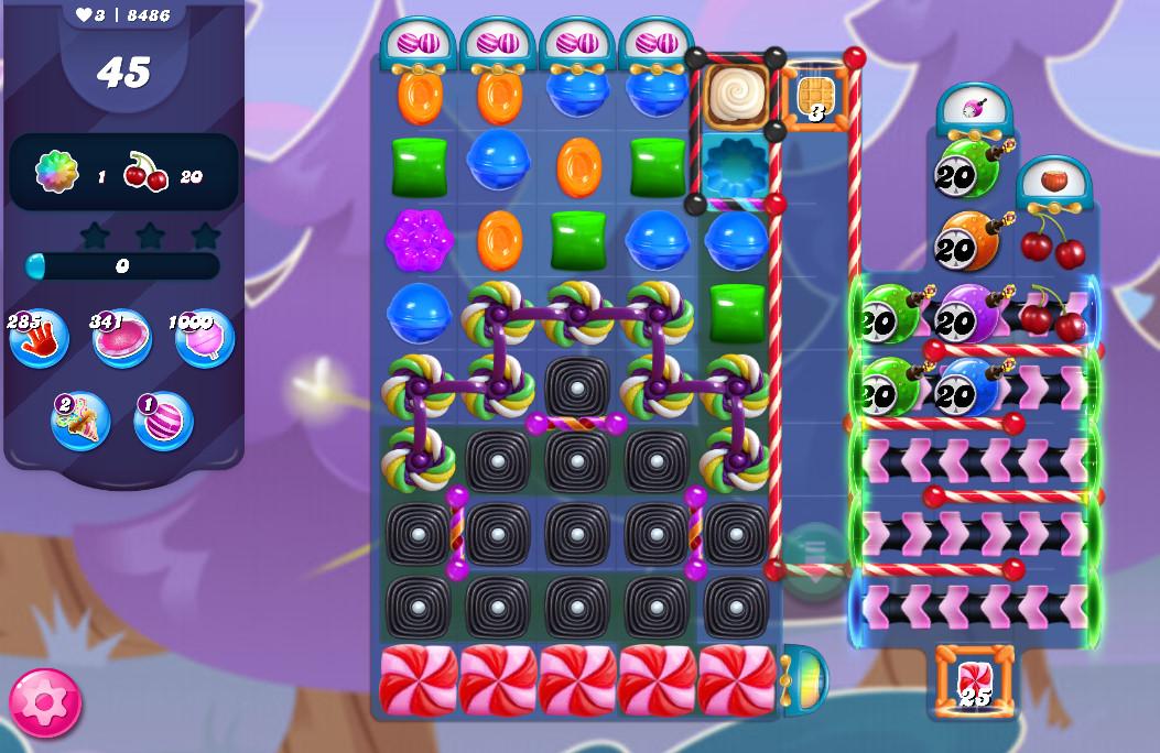 Candy Crush Saga level 8486