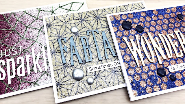 glitter card examples