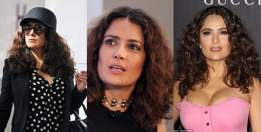 Salma Hayek natural hair