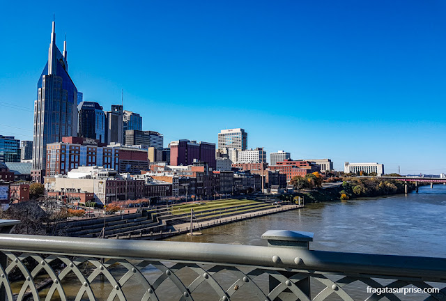 Nashville vista da John Seigenthaler Pedestrian Bridge