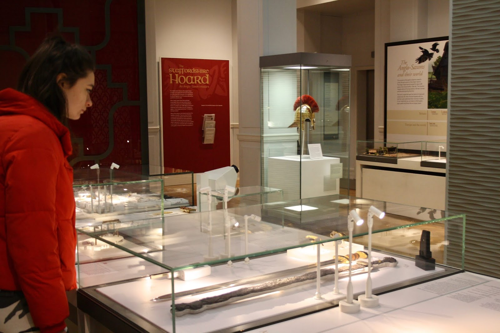 Staffordshire Hoard displays at the Birmingham Museum and Art Gallery