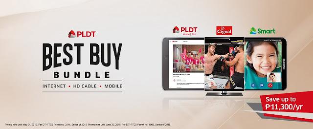 PLDT Best Buy Bundle: Internet, HD Cable, Mobile