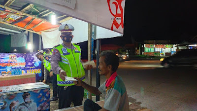 """Yuk Ngopi Wae"" Cara Ampuh Ditlantas Polda Banten Berikan Imbauan Prokes"
