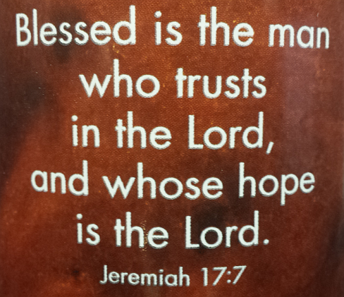 """Blessed is the man who trusts in the Lord, and whose hope is in the Lord."""