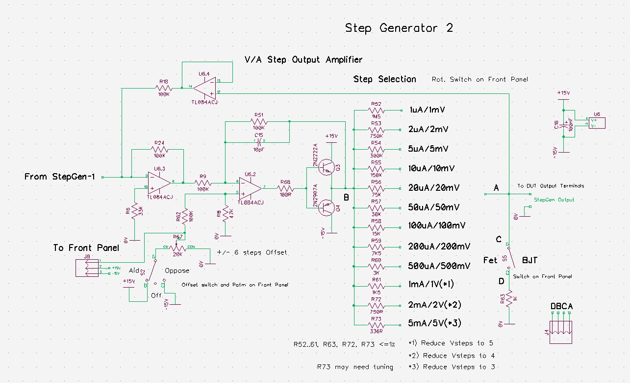 Pauls Diy Electronics Blog Building Another Curve Tracer Simple Circuit The Output Of Step Gen Section Goes To A Voltage Current Amplifier And Attenuation I Spent Quite Some Time Get This Right