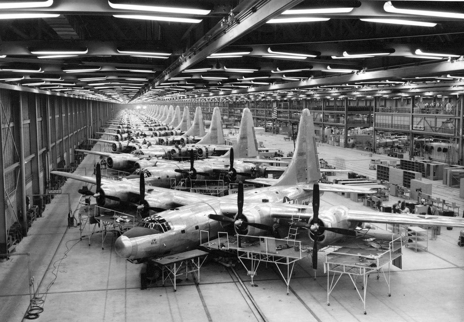 Consolidated B-32 Dominator Bomber factory in Fort Worth, Texas, 1944.