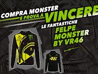 Logo Concorso ''Vinci la felpa con Monster'' : in palio 70 felpe Monster VR46 Yamaha