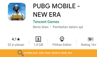 Download OBB PUBG Mobile - New Era Terbaru Latest Update