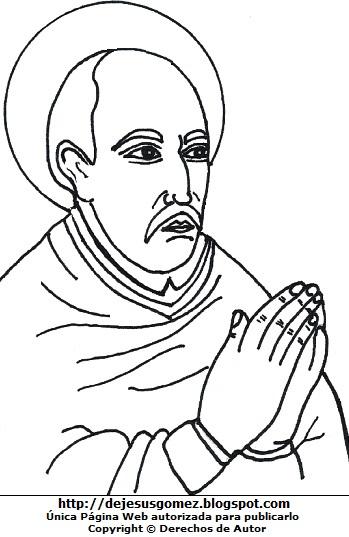 Dibujo de Santo Toribio de Mogrovejo para colorear, pintar e imprimir. Dibujo de Santo Toribio de Mogrovejo de Jesus Gómez