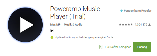 Cara Download dan Instal Poweramp Full Version Gratis di android