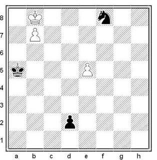 Estudio artístico de G. Nadareischvili (Chess Life & Review, octubre de 1970)