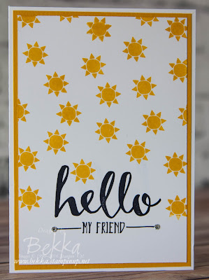 Hello My Friend Sunshine Card - get these stamps free with qualifying purchase here until 15 February 2016