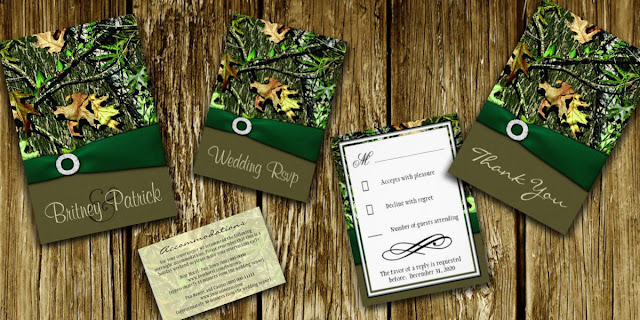 Wedding Invitation Themes Camo Wedding Invitations