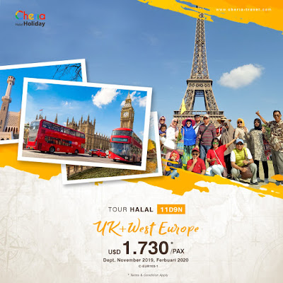 Promo Paket Tour London+West Europe