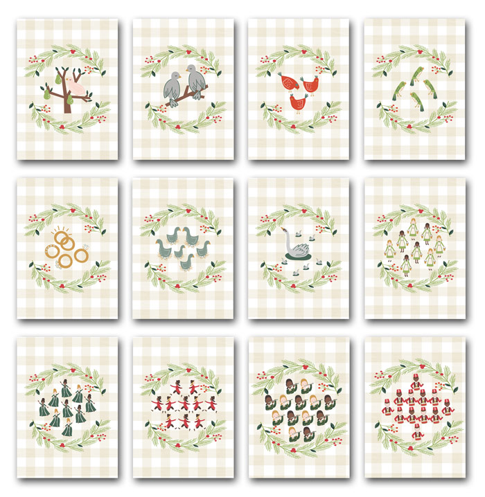 Free 12 Days of Christmas Printables