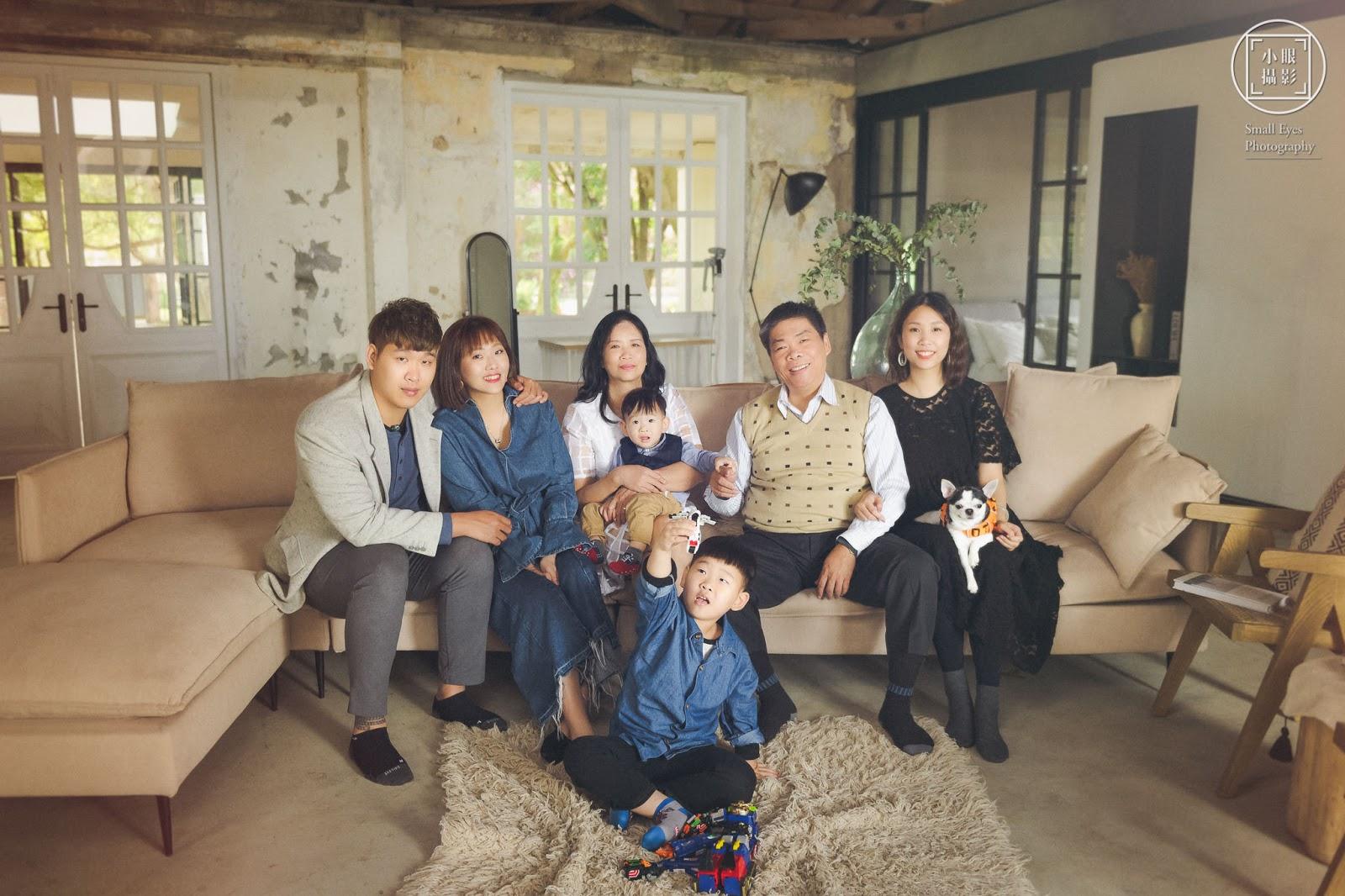 小眼攝影, 人像, 全家福, 家庭寫真, 婚紗攝影, ATTIC80,陽明山,攝影棚,老夫老妻,三代同堂,家族寫真,