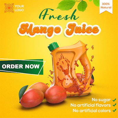 Mango products instagram banner psd