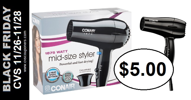 Conair Hair Appliances CVS Black Friday Deal 11-26-11-28